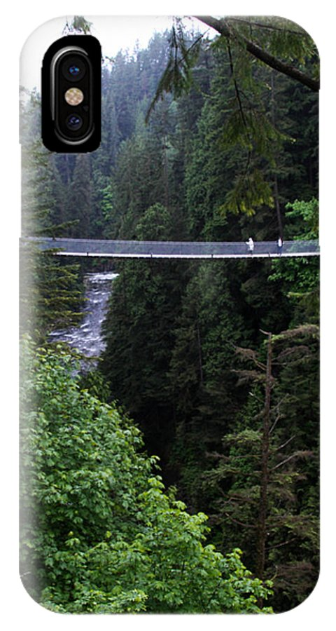 Swinging Bridge IPhone X Case featuring the photograph High Swinging Bridge by Qing