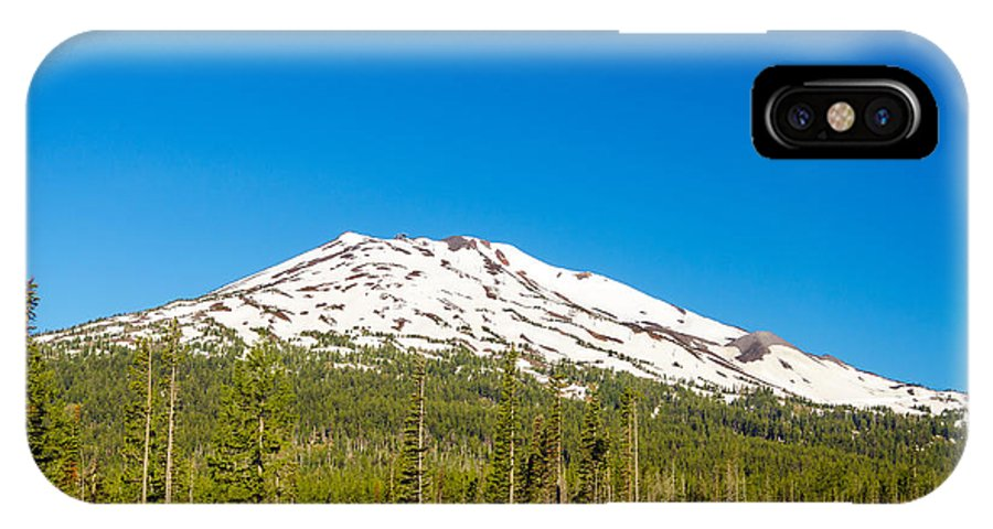 Road IPhone X Case featuring the photograph Highway Passing By Mountain by Jess Kraft