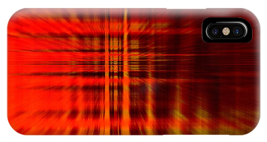 Highway Hell Fire Heat Color Colorful Expressionism Impressionism Abstract Digital Art IPhone X Case featuring the photograph Highway To Hell by Steve K