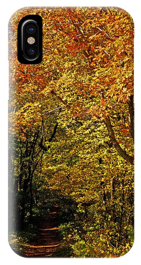 Autumn IPhone X Case featuring the photograph Hike by Jann Kline