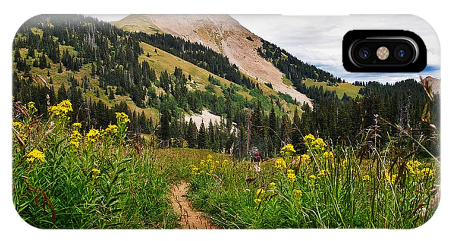 3scape IPhone X Case featuring the photograph Hiking In La Sal by Adam Romanowicz