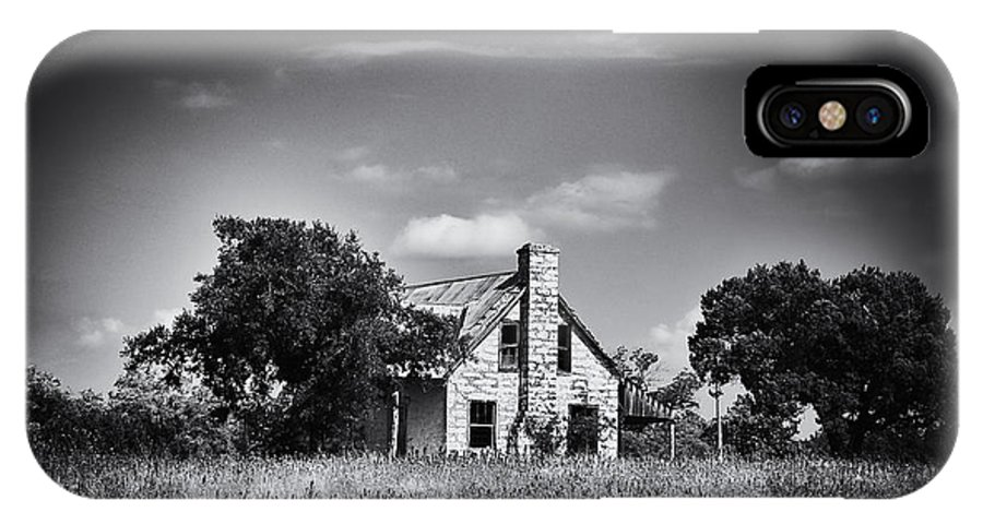 Abandoned IPhone X Case featuring the photograph Hill Country Homestead by Arne Hansen