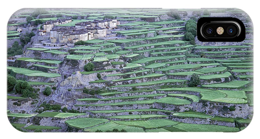 Asia IPhone X Case featuring the photograph Hill Modified For Agriculture, Tetang by Robert Caputo