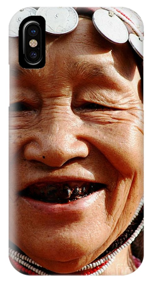 Smile IPhone X Case featuring the photograph Hill Tribe Smile by Nola Lee Kelsey