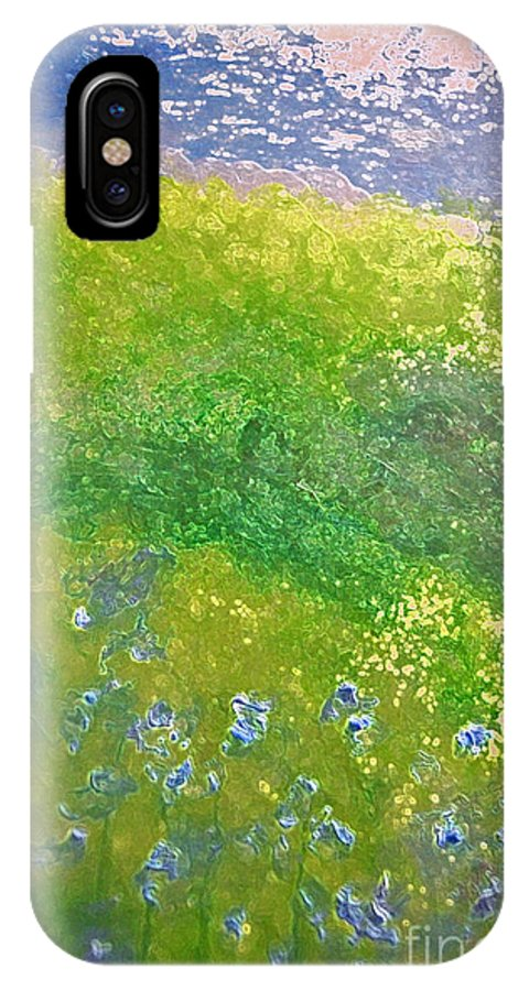 First Star Art IPhone X Case featuring the painting Hillside By Jrr by First Star Art