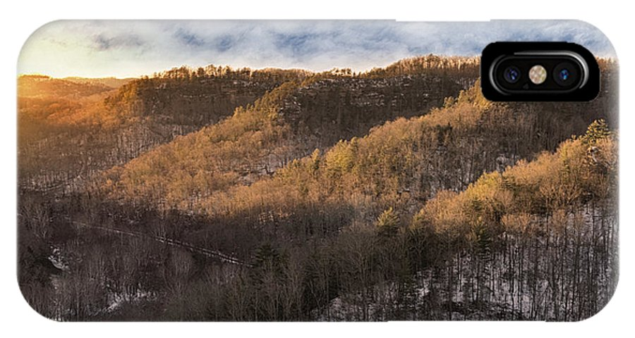 Winter IPhone X Case featuring the photograph Hillside Sunset by Diana Boyd