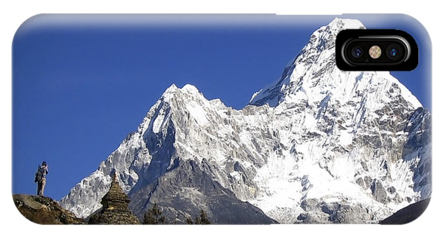 Ama Dablam IPhone X Case featuring the photograph Himalayas by Tim Hester