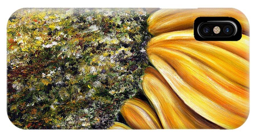 Sun Flower IPhone X Case featuring the painting Himawari by Hiroko Sakai