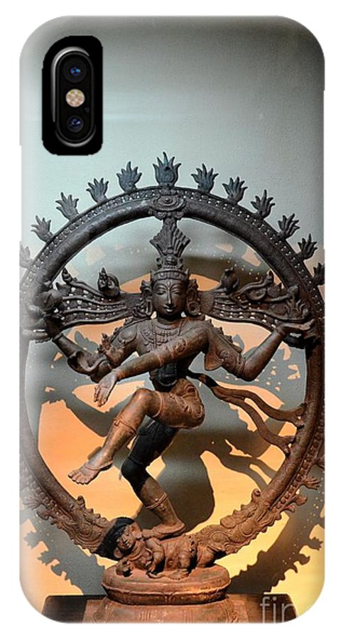Siva IPhone X Case featuring the photograph Hindu Statue Of Shiva In Nataraja Dance Pose by Imran Ahmed
