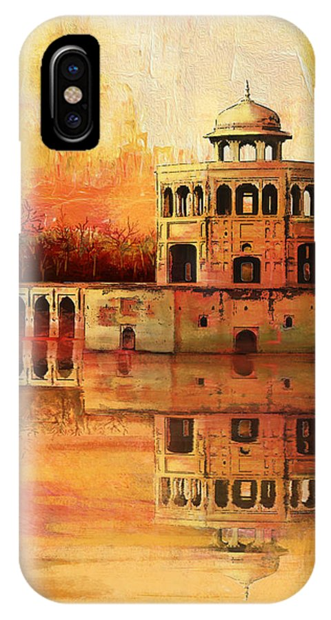 Pakistan IPhone X / XS Case featuring the painting Hiran Minar by Catf