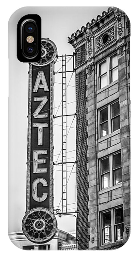 Downtown IPhone X Case featuring the photograph Historic Aztec Theater by Melinda Ledsome