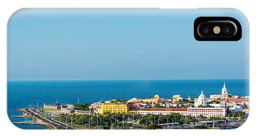 America IPhone X Case featuring the photograph Historic Cartagena And Sea by Jess Kraft