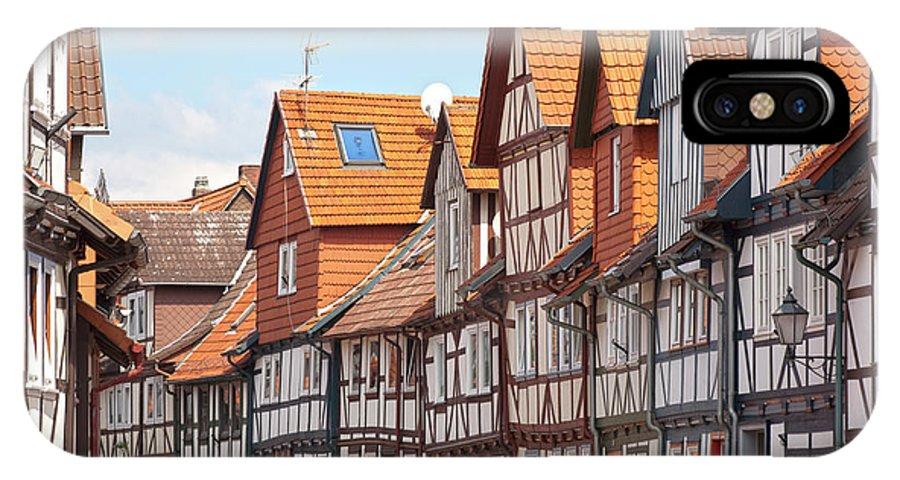 City IPhone X Case featuring the photograph Historic Houses In Germany by Heiko Koehrer-Wagner
