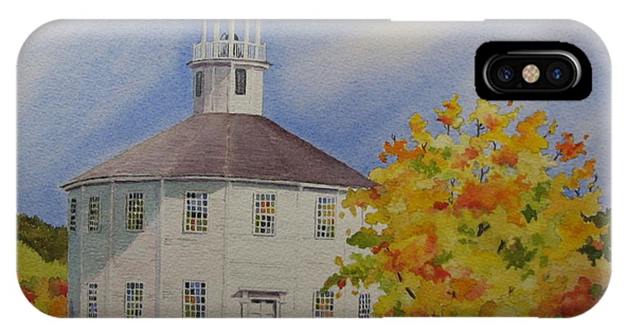 Richmond IPhone Case featuring the painting Historic Richmond Round Church by Mary Ellen Mueller Legault