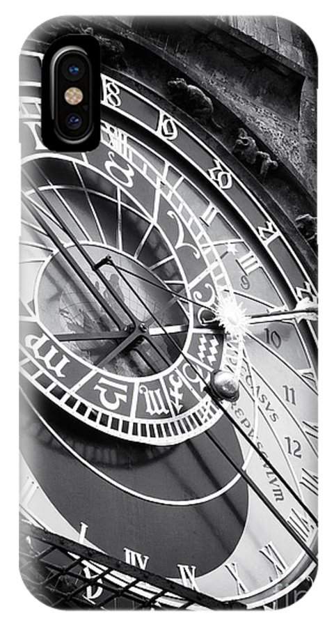 Prague Astronomical Clock IPhone X Case featuring the photograph Historic Time by John Rizzuto