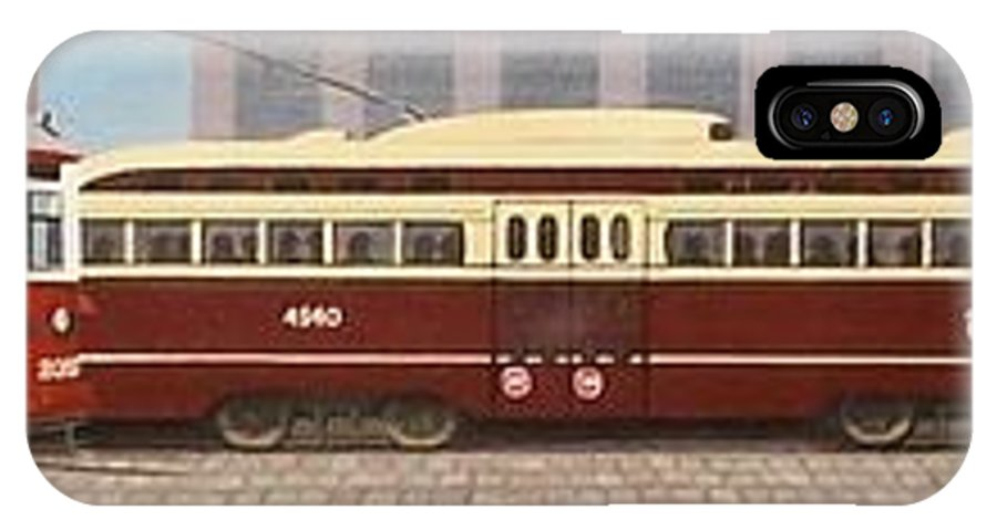 Streetscapes IPhone X Case featuring the painting History Of The Toronto Streetcar by Kenneth M Kirsch