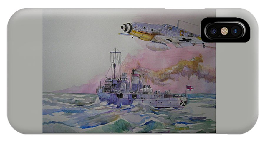 Ship IPhone X Case featuring the painting Hm Spiraea II by Ray Agius