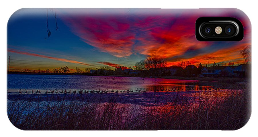 Colorful IPhone X / XS Case featuring the photograph Hoffman Lake by Dick Knapp