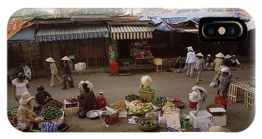 Hoi An IPhone X Case featuring the photograph Hoi An Market by Shaun Higson