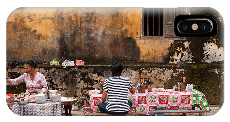 Vietnam IPhone X Case featuring the photograph Hoi An Noodle Stall 03 by Rick Piper Photography