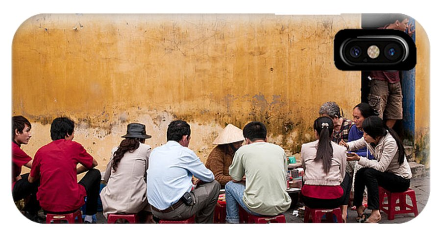 Vietnam IPhone X Case featuring the photograph Hoi An Noodle Stall 05 by Rick Piper Photography