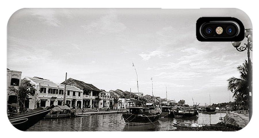 Hoi An IPhone X Case featuring the photograph Hoi An Riverfront by Shaun Higson