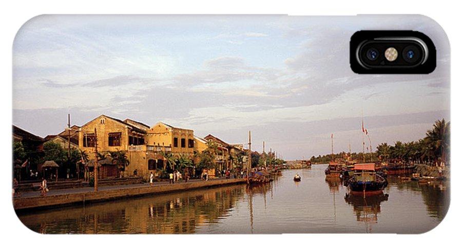 Thu Bon IPhone X Case featuring the photograph Hoi An Tranquillity by Shaun Higson