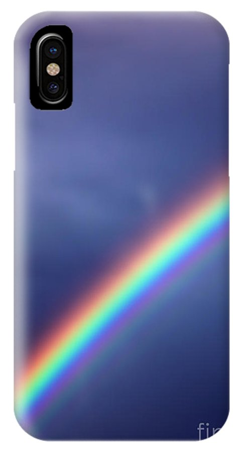 Rainbow IPhone X Case featuring the photograph Hold On For Hope by Amanda Barcon