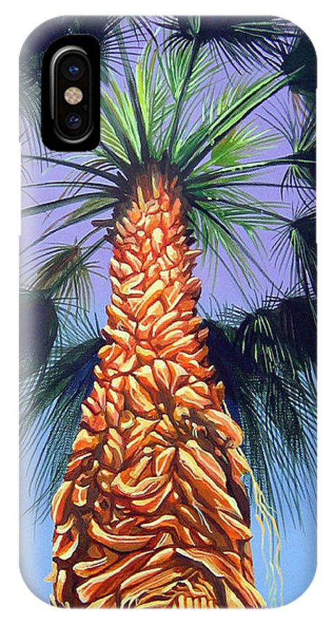 Palm Tree In Palm Springs California IPhone X Case featuring the painting Holding Onto The Earth by Hunter Jay