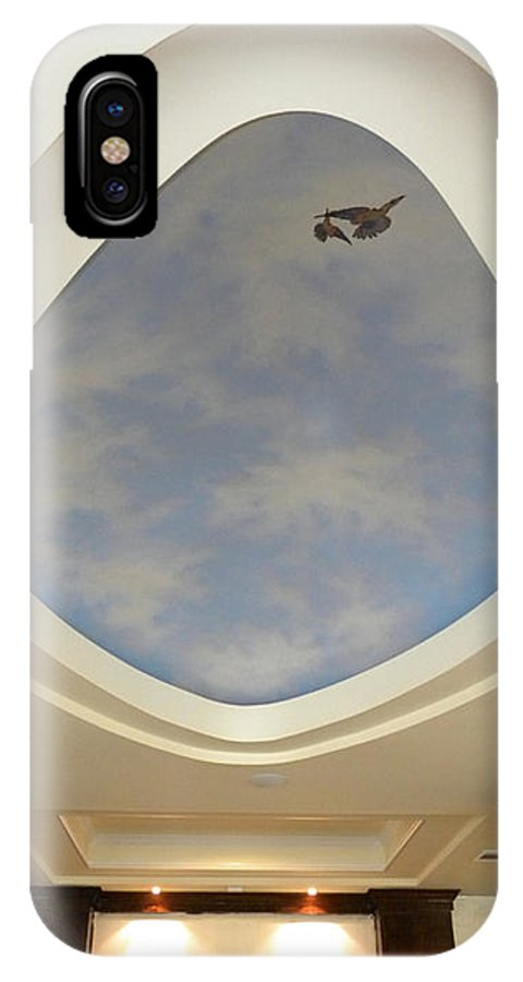 Murals IPhone X Case featuring the painting Holiday Inn Express Ceiling Dome Mural by Frank Wilson