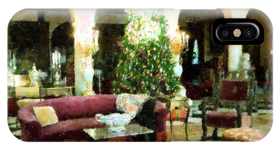 Impressionism IPhone X Case featuring the mixed media Holiday Time Inside Ringling by Florene Welebny