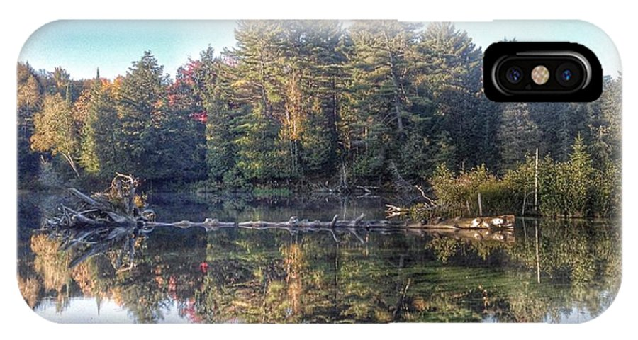 Lake Of Bays IPhone X Case featuring the photograph Hollow River by Lee Burgess