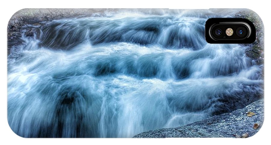 Kawagama Lake IPhone X Case featuring the photograph Hollow River Rapids by Lee Burgess