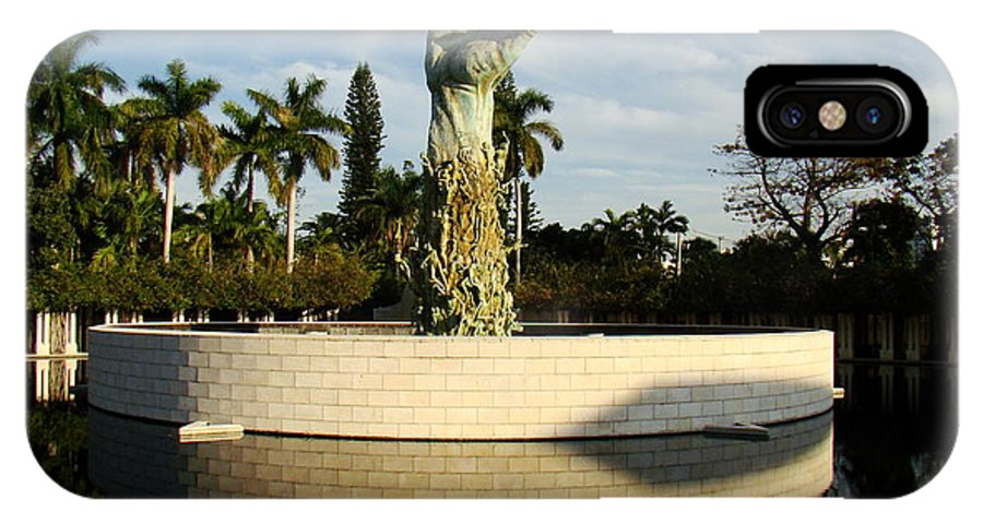 Sculpture IPhone X Case featuring the photograph Holocaust Memorial In Florida by Eva Kato