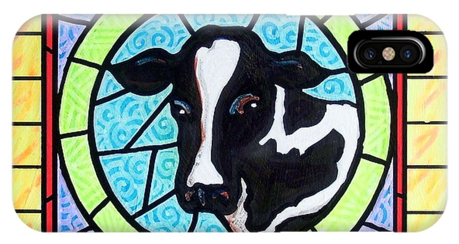 Cattle IPhone Case featuring the painting Holstein 4 by Jim Harris