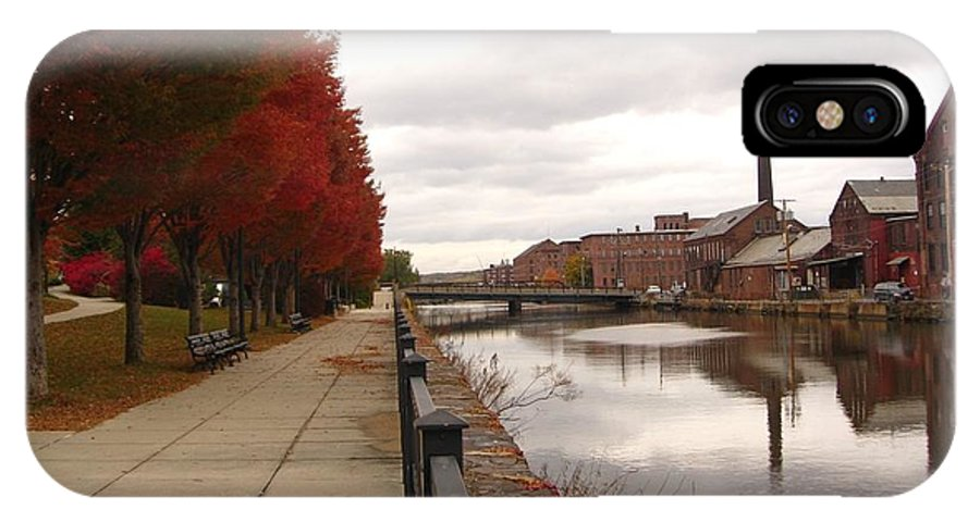 Holyoke Mills IPhone X Case featuring the photograph Holyoke Mills And Canal by Marianne Miles