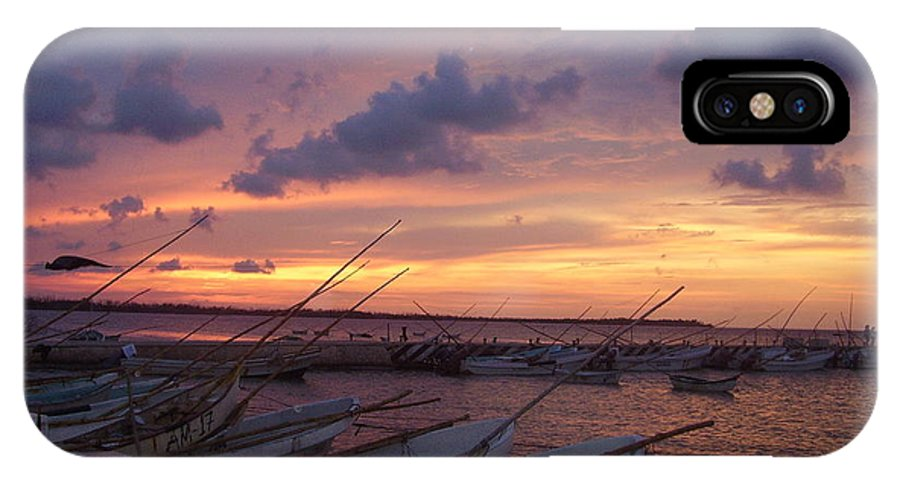 Fishing Boats IPhone X Case featuring the photograph Home To Roost by Liz Rosales