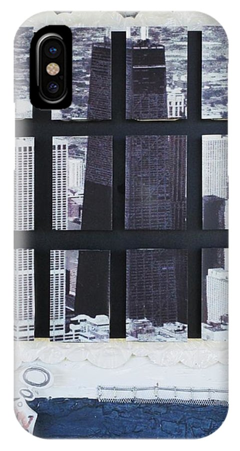 Homeland Security IPhone X Case featuring the mixed media Homeland Security Phase 2 The Face Of Terror by Mack Galixtar