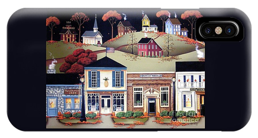 Art IPhone X Case featuring the painting Hometown America by Catherine Holman