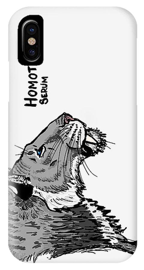 Homotherium IPhone X Case featuring the digital art Homotherium by Louis Salas