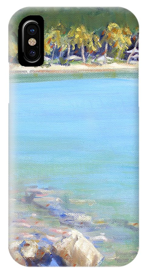 Honey Moon Beach IPhone X Case featuring the painting Honey Moon Beach by Candace Lovely