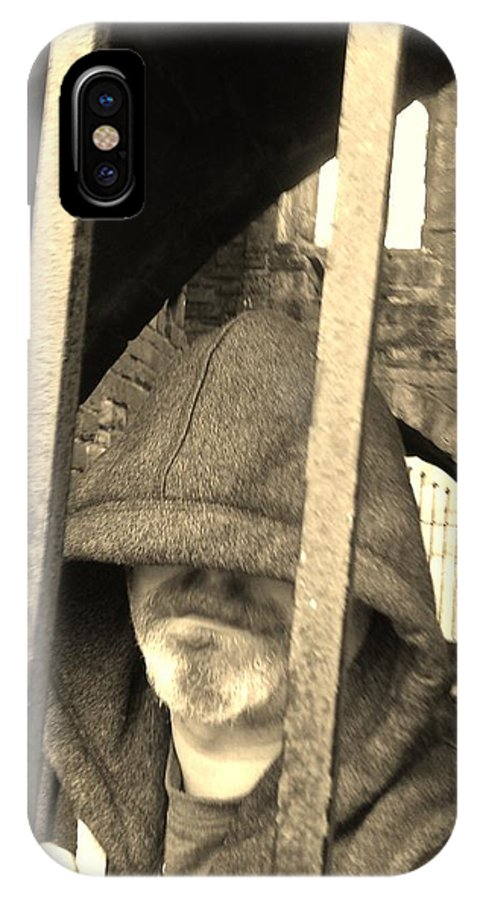 Prisoner IPhone X Case featuring the photograph Hooded Prisoner by Gav