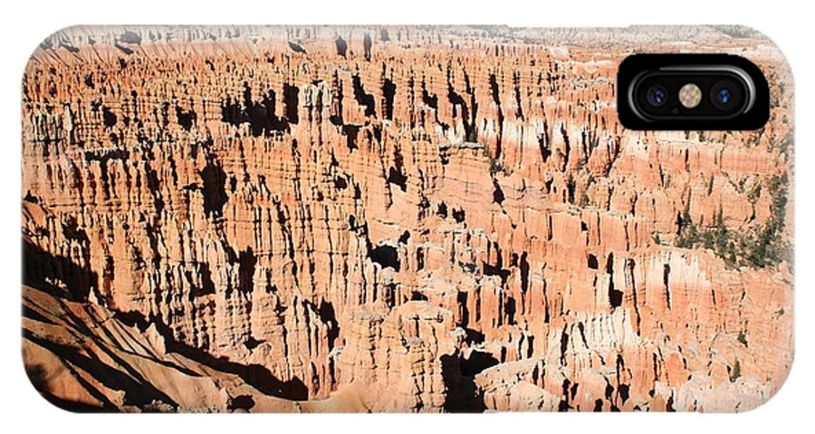 Canyon IPhone X Case featuring the photograph Hoodoos Of Bryce Canyon by Christiane Schulze Art And Photography