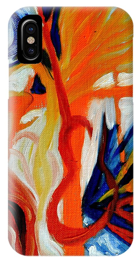 Hooked IPhone X Case featuring the painting Hooked by Beverley Harper Tinsley