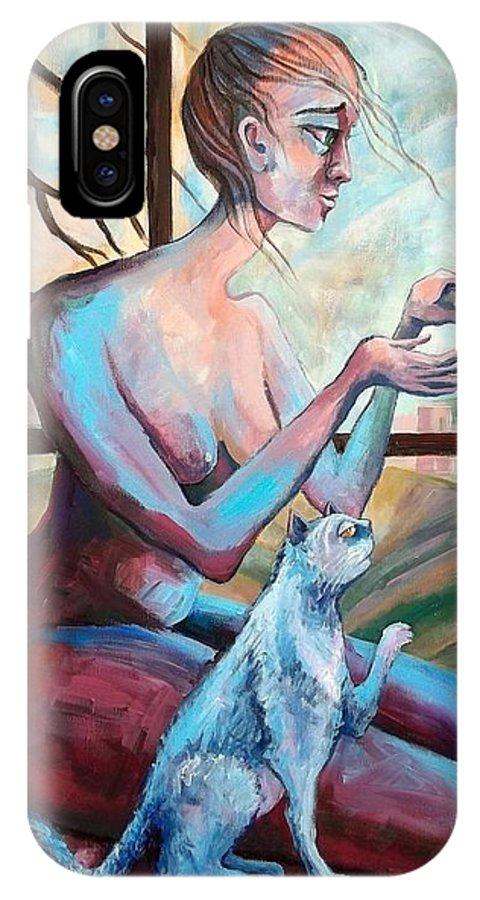 Jerusalem IPhone X Case featuring the painting Hope by Elisheva Nesis