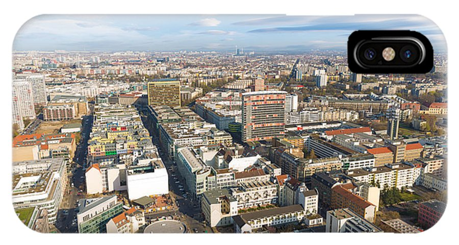 Apartments IPhone X / XS Case featuring the photograph Horizontal Aerial View Of Berlin by Semmick Photo
