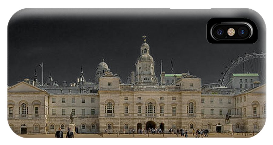 Horse Guards Parade London Sky Hdr IPhone X Case featuring the photograph Horse Guards Parade by Mark Lawes