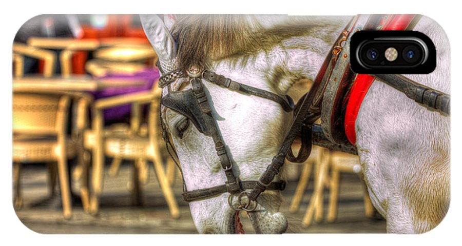Hdr IPhone X Case featuring the photograph Horse In Cracow by Pati Photography