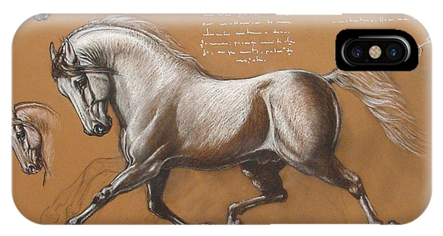 Horse IPhone X Case featuring the drawing Horse Is Beautiful # 4 by House Brasil