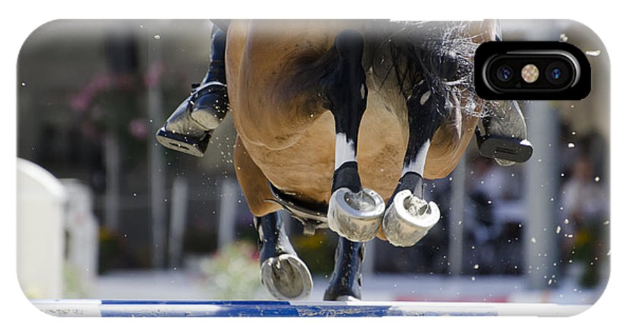 Horse IPhone X Case featuring the photograph Horse Jumping by Mats Silvan